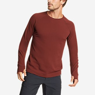 Men's Thermal Tech Crew in Brown