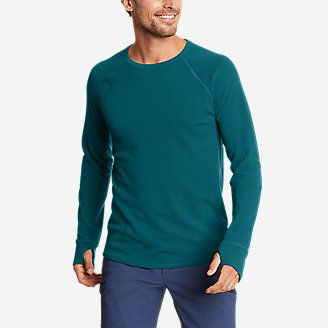 Men's Thermal Tech Crew in Blue