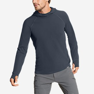 Men's Thermal Tech Pullover Hoodie in Blue