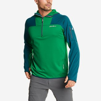 Men's High Route Grid Fleece 1/2-Zip - Colorblock in Green