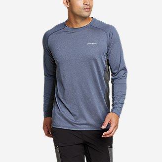 Men's TrailCool Long-Sleeve T-Shirt in Blue