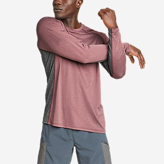 Men's TrailCool Long-Sleeve T-Shirt in Red