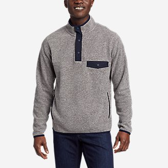 Men's Chutes Snap Mock in Gray