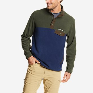 Men's Chutes Snap Mock in Blue