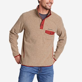 Men's Chutes Snap Mock in Beige