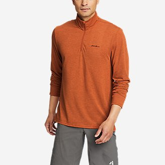 Men's Boundless Long-Sleeve 1/4-Zip in Orange