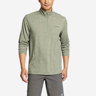 Men's Boundless Long-Sleeve 1/4-Zip in Green