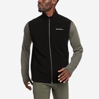 Men's Quest Fleece Vest in Black