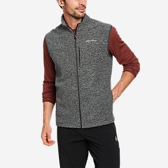 Men's Quest Fleece Vest in Gray