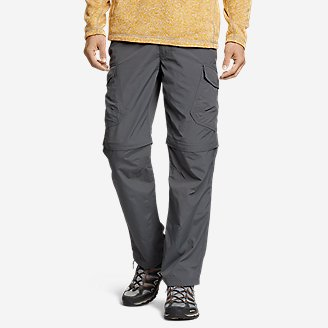 Men's Exploration 2.0 Packable Convertible Pants in Gray