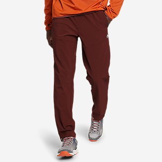 Men's Guide Grid Pull-On Pants in Brown