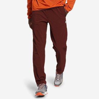 Men's Guide Grid Pull-On Pants in Brown