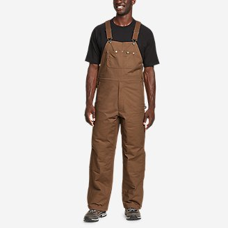 Men's Impact Insulated Overalls in Brown
