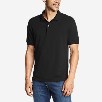 Men's Classic Field Pro Short-Sleeve Polo Shirt in Black