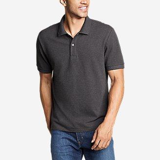Men's Classic Field Pro Short-Sleeve Polo Shirt in Gray