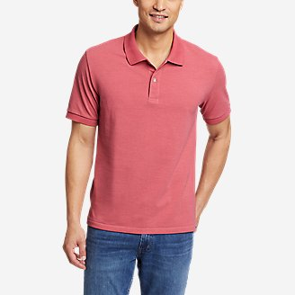 Men's Classic Field Pro Short-Sleeve Polo Shirt in Red