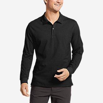 Men's Classic Field Pro Long-Sleeve Polo Shirt in Black