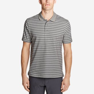 Men's Voyager 2.0 Short-Sleeve Polo Shirt - Stripe in Gray