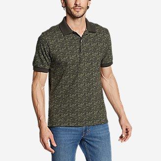 Men's Field Pro Polo Shirt - Print in Green