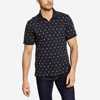 Men's Field Pro Polo Shirt - Print in Blue