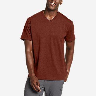 Men's Legend Wash Pro Short-Sleeve V-Neck T-Shirt in Brown
