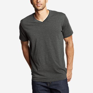 Men's Legend Wash Pro Short-Sleeve V-Neck T-Shirt in Black
