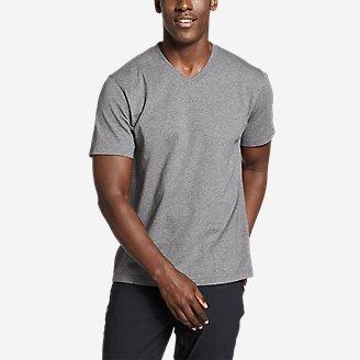 Men's Legend Wash Pro Short-Sleeve V-Neck T-Shirt in Gray