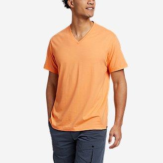 Men's Legend Wash Pro Short-Sleeve V-Neck T-Shirt in Orange