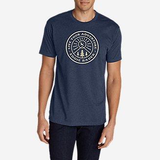 Men's Graphic T-Shirt - Camo Flag in Blue