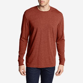 Men's Legend Wash Long-Sleeve T-Shirt - Classic Fit in Brown