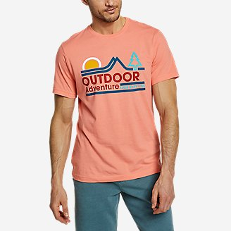 Men's Graphic T-Shirt - Twin Ridge Adventure in Orange