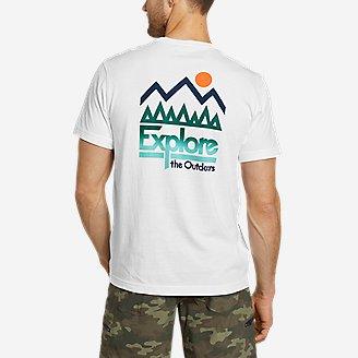Men's Graphic T-Shirt - Big Sun Outdoors in White