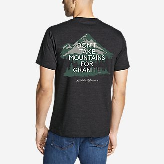 Men's Graphic T-Shirt - Granite Mountain in Black