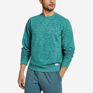 Men's Camp Fleece Crew Sweatshirt - Print in Green