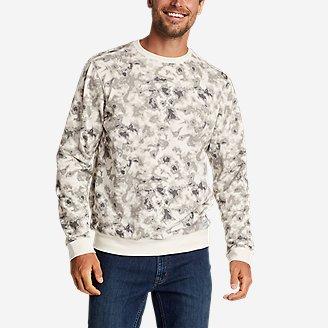 Men's Camp Fleece Crew Sweatshirt - Print in Gray