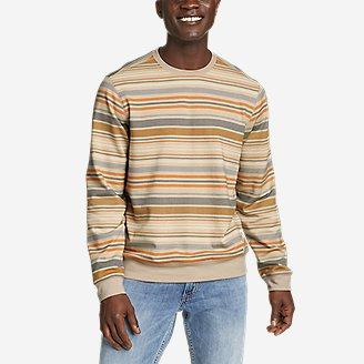 Men's Camp Fleece Crew Sweatshirt - Print in Brown