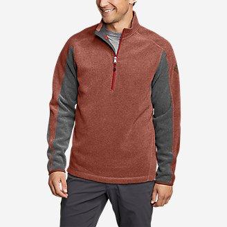 Men's Mountain Fleece 1/2-Zip in Brown