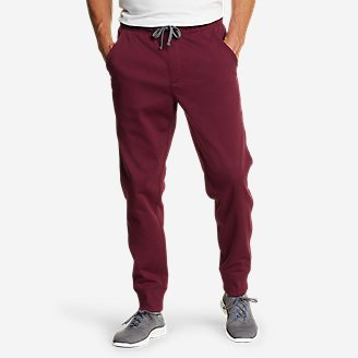 Men's Cascade Falls Sherpa-Lined Jogger Pants in Red