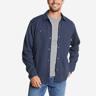 Men's Sherpa-Lined Thermal Shirt in Blue