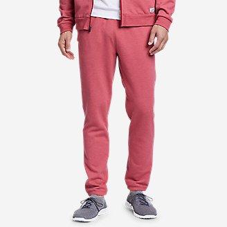 Men's Camp Fleece Jogger Pants in Red