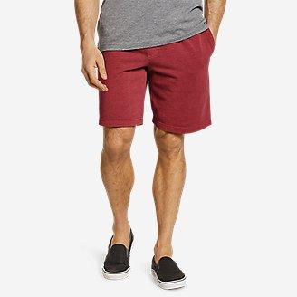 Men's Camp Fleece Riverwash Shorts in Red