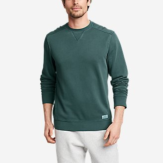 Men's Camp Fleece Riverwash Crew in Green