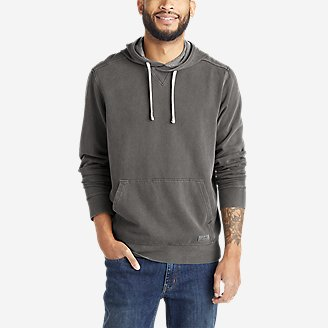Men's Camp Fleece Riverwash Pullover Hoodie in Blue