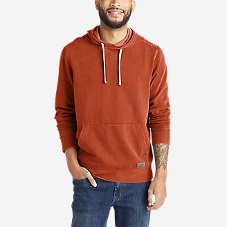 Men's Camp Fleece Riverwash Pullover Hoodie in Red
