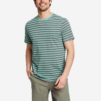 Men's Legend Wash Pro Short-Sleeve T-Shirt - Stripe in Green