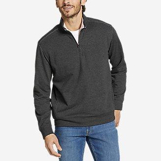 Men's Sherpa-Lined Camp Fleece 1/4-Zip in Gray