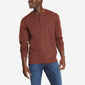 Men's Adventurer  Long-Sleeve Henley in Brown