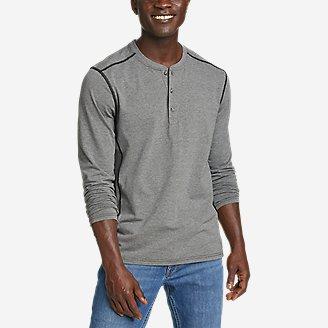 Men's Adventurer  Long-Sleeve Henley in Gray
