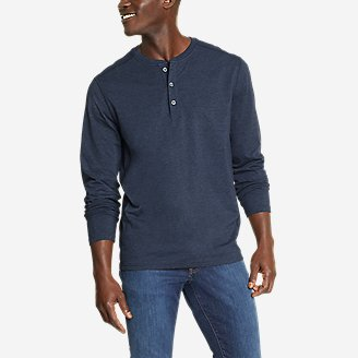 Men's Adventurer  Long-Sleeve Henley in Blue