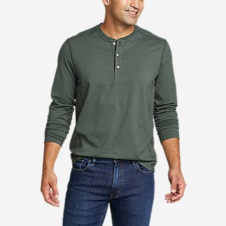 Men's Adventurer  Long-Sleeve Henley in Green